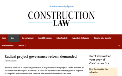 CIG Services featured in Construction Law